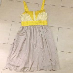 Anthro Burlapp Silk Dress